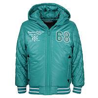 Куртка Glo-story для мальчика зеленая BMA-5287; 92/98 размер