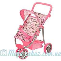 Детская прогулочная коляска для кукол железная Melogo: 3 колеса, корзина для игрушек + регулируется ручка
