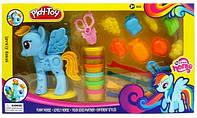 Набор для творчества пластилин с игрушкой Пони SM8007А