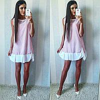 c6500963aee Полосатое летнее модное льняное платье-рубашка в серую полоску. Арт ...