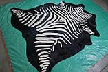 Коровья шкура черная с покраской в белую зебру в Украине, фото 2