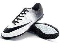 Футбольные сороконожки Nike Mercurial Victory Turf White/Black, фото 1