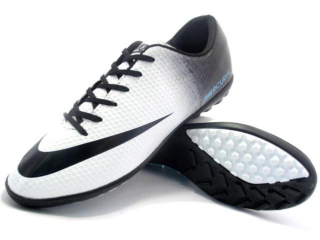 Футбольные сороконожки Nike Mercurial Victory Turf White/Black