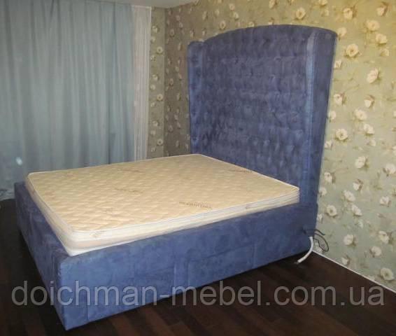 купить эксклюзивные и стильные двуспальные кровати с мягким
