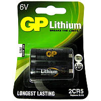 Батарейка  2CR-5  GP блистер  (для  фотоаппаратов)
