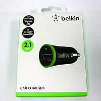 Автомобильное зарядное устройство   BELKIN  1- USB порт( 5V/2,1A)черное