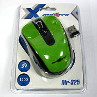 Беспроводная мышка Maxxtro Mr-325G  зеленая  USB (Акция!!!)