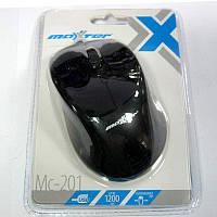 Компьютерная мышка Maxxtro Mc-201  черная,USB