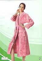 Длинный велюровый халат на запах фирмы NUSA