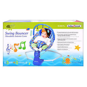 Детский музыкальный шезлонг- качеля S 003, фото 2