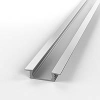 Алюминиевый анодированный профиль для светодиодной подсветки, монтируется в потолок, создание световых полос, фото 1