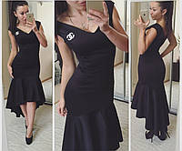 Элегантное черное платье  . Арт-2314/2