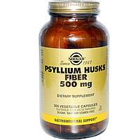 Подорожник, Psyllium, Solgar, Солгар, 500 мг,  200 капсул
