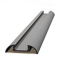 Алюминиевый анодированный профиль для светодиодной подсветки, накладной на  потолок, создание световых полос