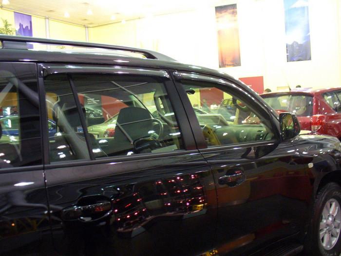 Дефлекторы окон (ветровики) Тойота LAND CRUISER 200/LX570, 07-, 4дв, темный(PZ45170533ZA)