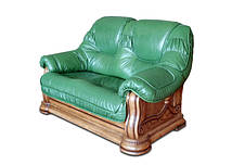 """Классический двухместный кожаный диван """"GRYZLI"""" Hup (190см), фото 2"""