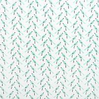 Хлопковая ткань Птички мята (перкаль)