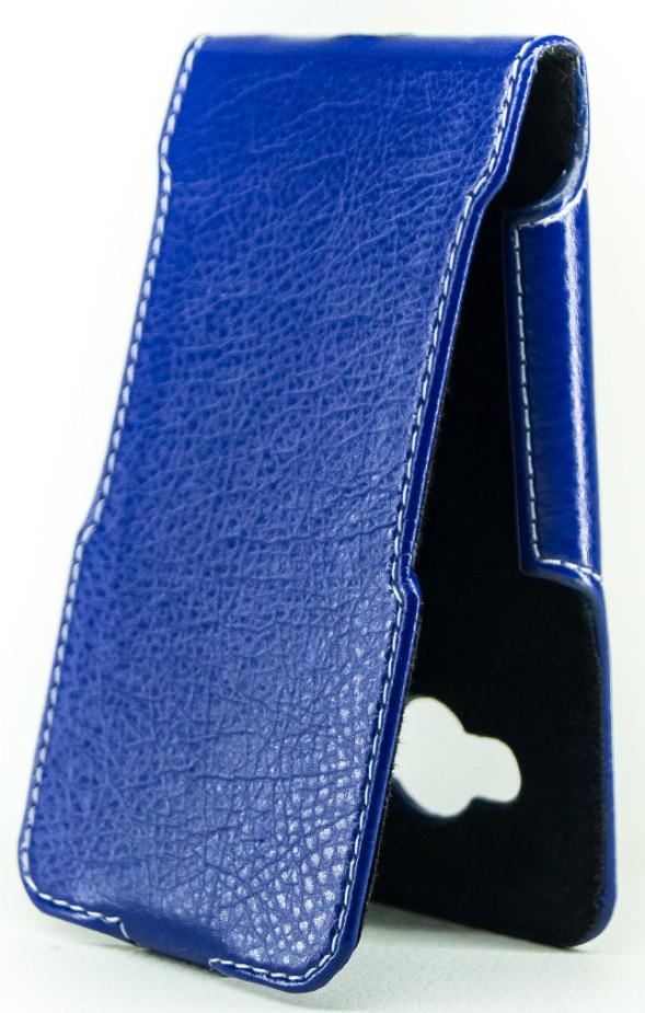 Чехол Status Flip для Samsung Galaxy J1 Ace J110 Dark Blue