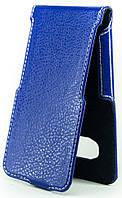 Чехол Status Flip для Samsung Galaxy J1 2016 J120 Dark Blue