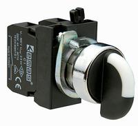 Переключатель 2-0-1 с фиксацией в 1 пол. (1НО+1НЗ) металл IP65