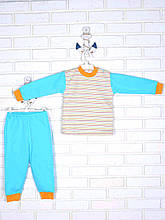 Пижама полоска, оранжевый