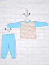 Пижама полоска, бирюзовый