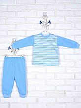 Пижама полоска, голубой
