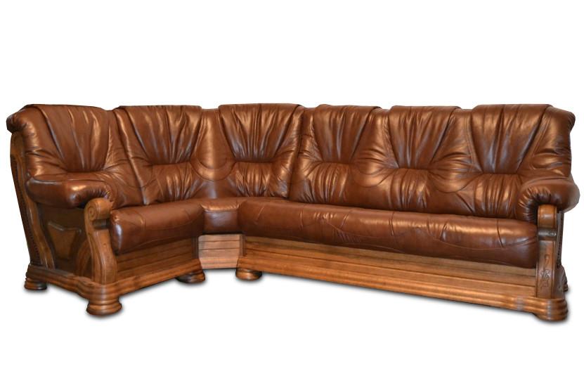 """Шкіряний кутовий диван """"Віконт 5030"""" (1 + уг + 2н)"""