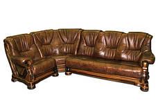 """Шкіряний кутовий диван """"Віконт 5030"""" (1 + уг + 2н), фото 2"""