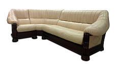 """Шкіряний кутовий диван """"Монарх"""" (1 + уг + 2н), фото 3"""