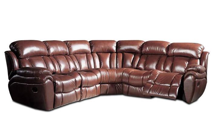 Угловой диван с реклайнером BOSTON