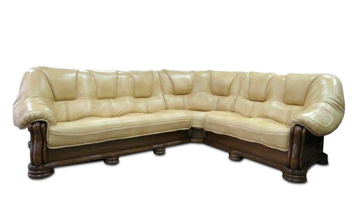Кожаный угловой диван SANREMO Hup