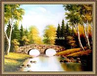 Картина Каменный мост 400х600мм №380 в багетной рамке