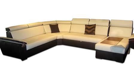 Современный кожаный диван FX-15 угол С (340см-264см-163см), фото 2