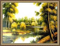 Картина Летний пейзаж 400х600мм №376 в багетной рамке