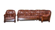 Кутовий диван в шкірі ANETA I, II (280см-240см), фото 2