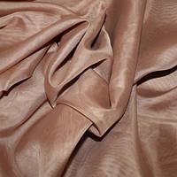 Тюль Вуаль какао, однотонная + высококачественный пошив