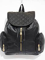 Рюкзак два кармана кож.зам черный, фото 1