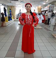 Женское вышитое платье из льна 1520 2be7243755e30