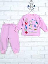 Пижама с аппликацией, розовый