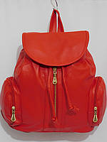 Рюкзак два кармана кож.зам красный, фото 1