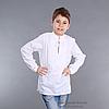 Детская вышиванка для мальчика белым по белому