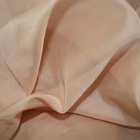 Тюль Вуаль какао - крем, однотонная + высококачественный пошив
