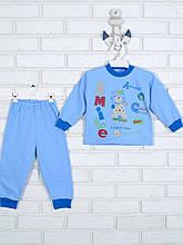 Пижама с аппликацией, голубой
