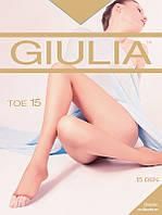 Тончайшие полуматовые женские колготки с открытыми пальчиками 15den от торговой марки Giulia