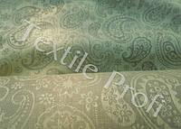 """Льняная скатертная жаккардовая ткань """"Paisley"""" (шир. 180 см), фото 1"""