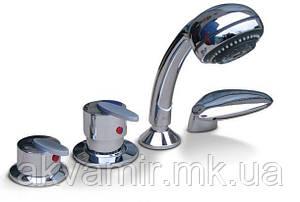 Смеситель на борт ванны с душем четырехпозиционный Triton Ниагара хром