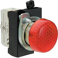 Арматура сигнальная 22мм со светодиодом 12-30 В AC/DC металл IP65 красная
