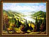 Картина Солнечные горы 400х600мм №354 в багетной рамке