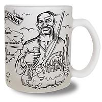 Чашка Украина стекло мат.